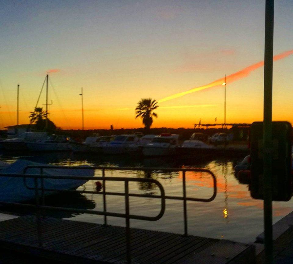 sunset sardegna sea