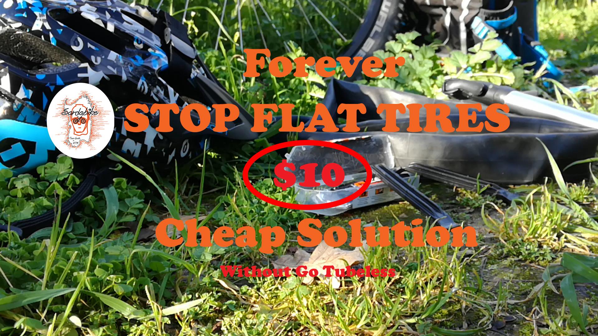 tubeless cheap solution stop flat tires sardabike mtb tutorial