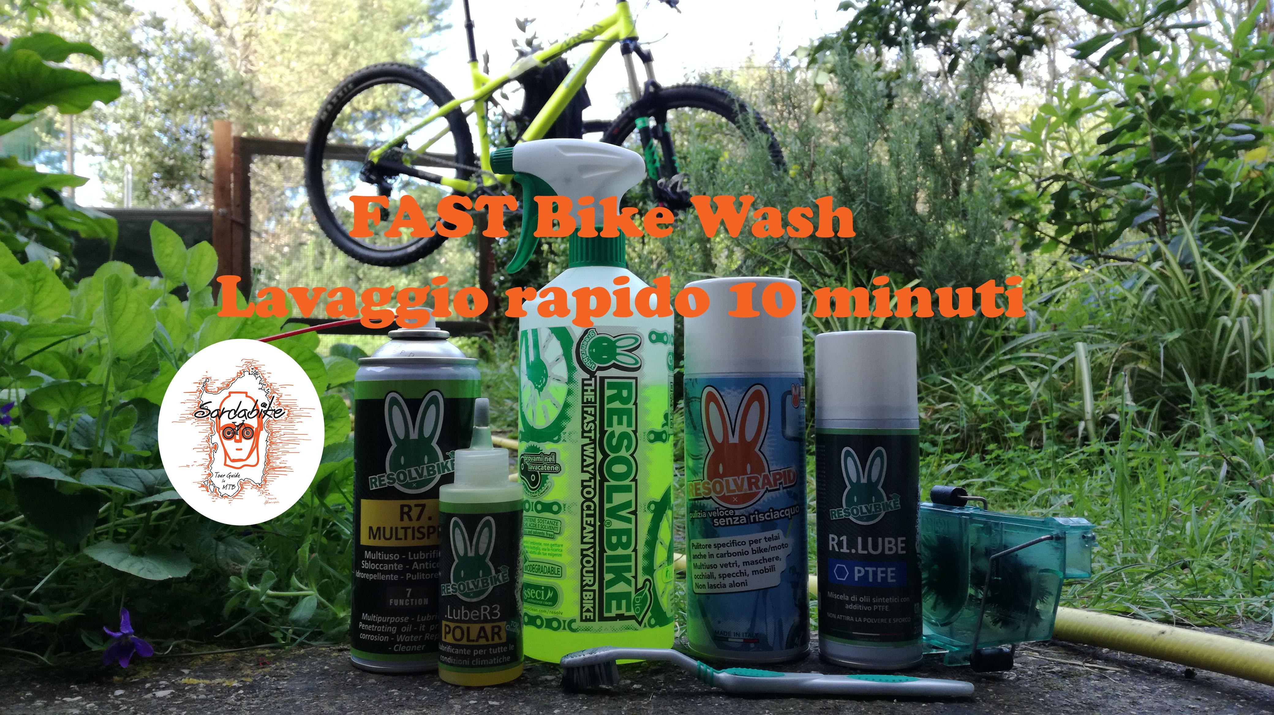 sardabike mtb resolvbike fast wash lavaggio rapido mountain bike