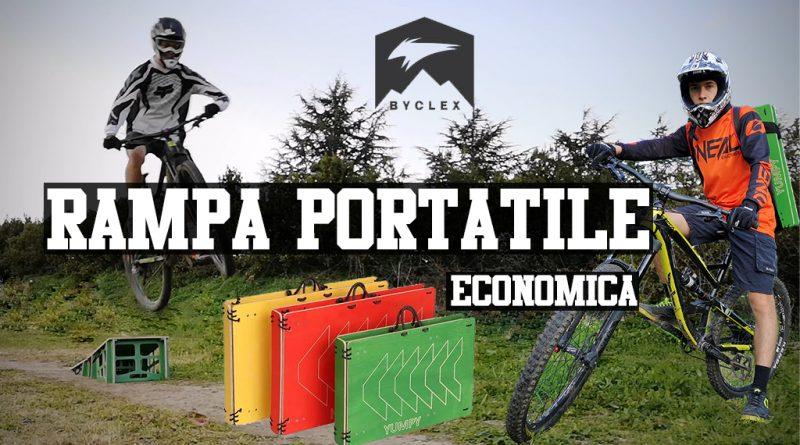Byclex la rampa portatile sardabike saltare in mtb