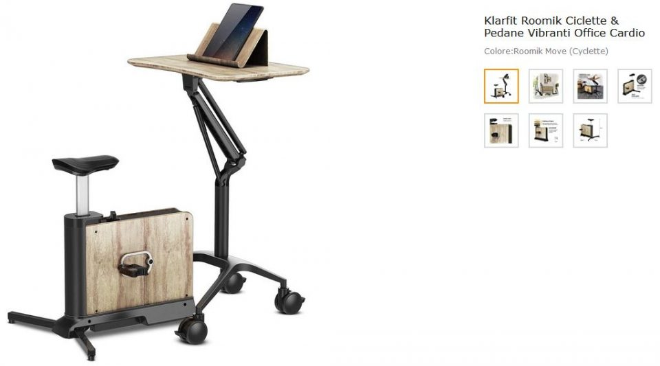 cyclette smart working per pc e tablet lavorare da casa e pedalare