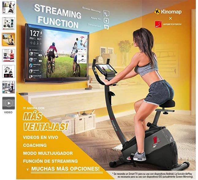 cyclette multimediale allenamento streaming da casa esercizzi ciclismo