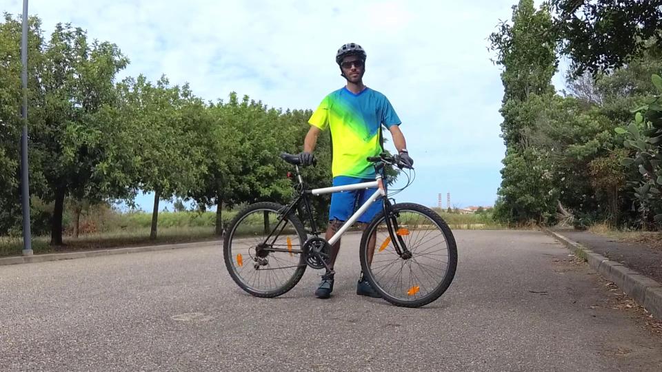 impennare con bicicletta pesante
