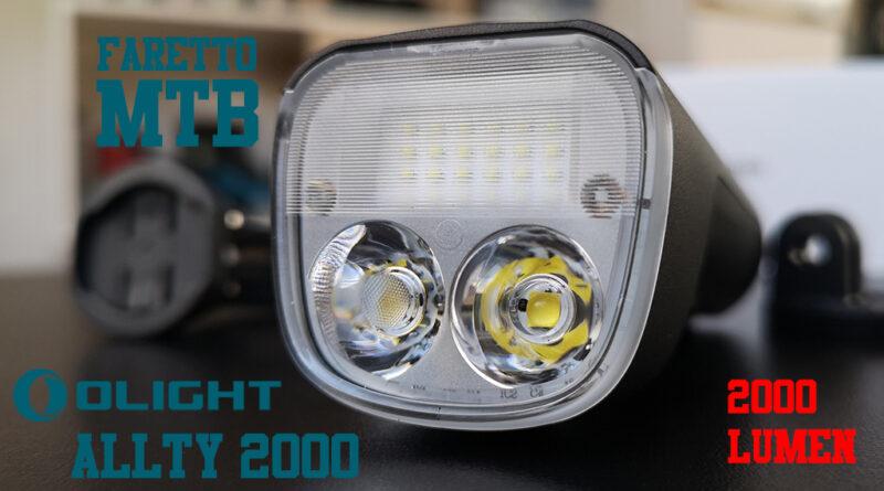 Olight ALLTY 2000 lumen faretto mtb potente notturna