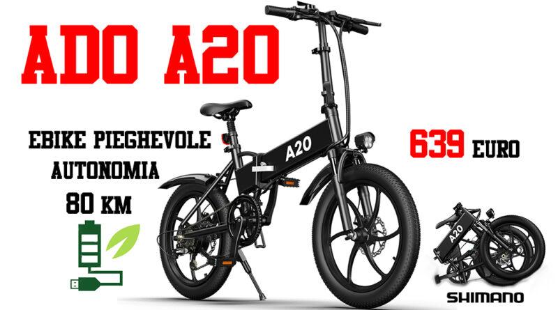 ADO A20 ebike folding bici elettrica pieghevole economica