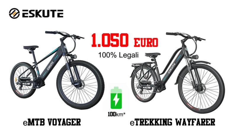 Eskute bikes economiche legali in italia motore bafang
