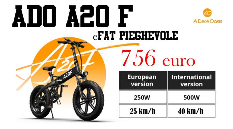 ADO A20 F eFat bike pieghevole