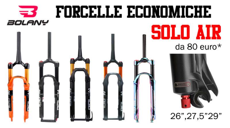 Forcella MTB economica Bolany ad aria per mountain bike