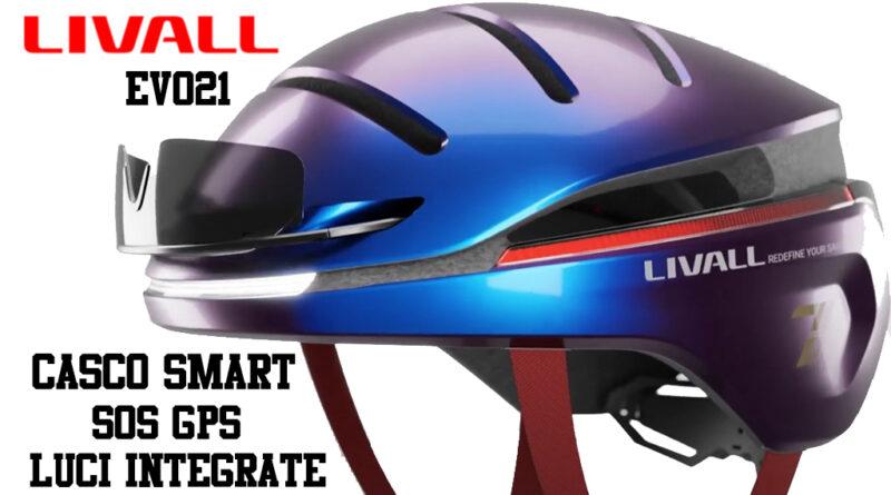 Livall EVO21 casco bici smart luci integrate SOS GPS