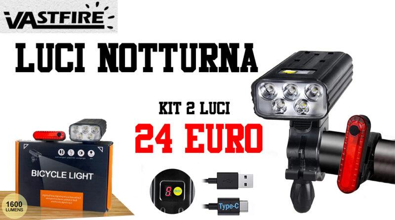 VASTFIRE luci notturna MTB bici faretto led luce posteriore