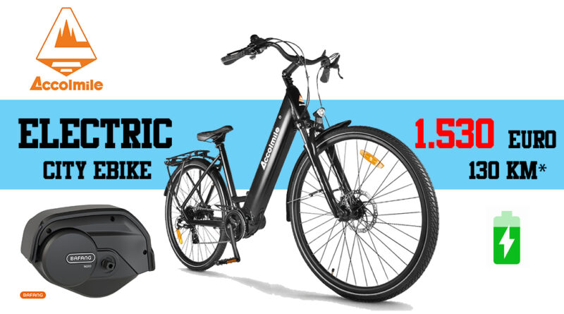 Accolmile Electric City ebike economica per città e cicloturismo